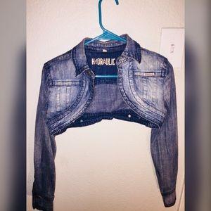 Bolero Style Cropped Denim Jacket